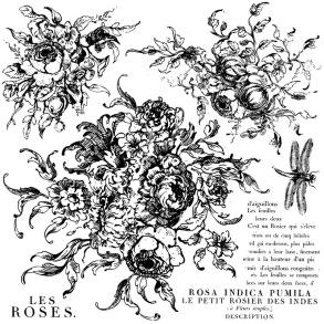 IOD Dekorstämpel Rose Toile