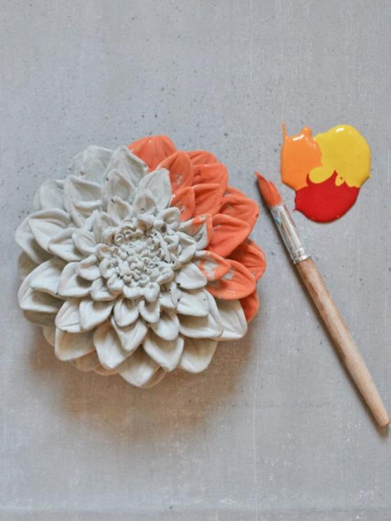 Gjuter du i betong? Med Annie Sloan Chalk Paint målar du och skapar intressanta effekter.