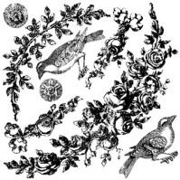 IOD Dekorstämpel Floral Swags