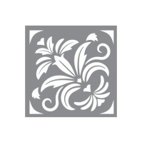 Schablon Floral Damask
