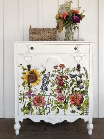 IOD Dekortransfer på målade möbler