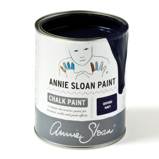 Oxford Navy ny marinblå kulör Chalk Paint kalkfärg från Annie Sloan