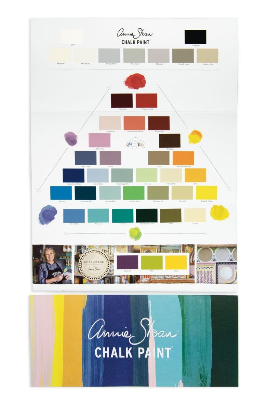 Annie Sloan färgkarta, färgfolder med alla Chalk Paint kulörer i Monicas Butik