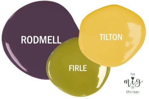 Firle, Rodmell, Tilton Chalk Paint Charlestonkulörer finns nu som separata provburkar 120 ml