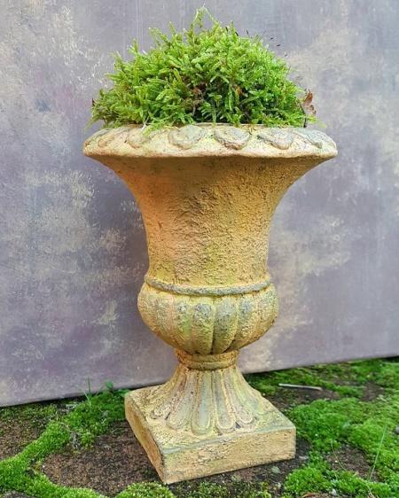 Tilton som ljus terracottaeffekt med Firle som mossig påväxt.