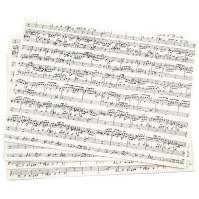 Noter, papper för dekoration
