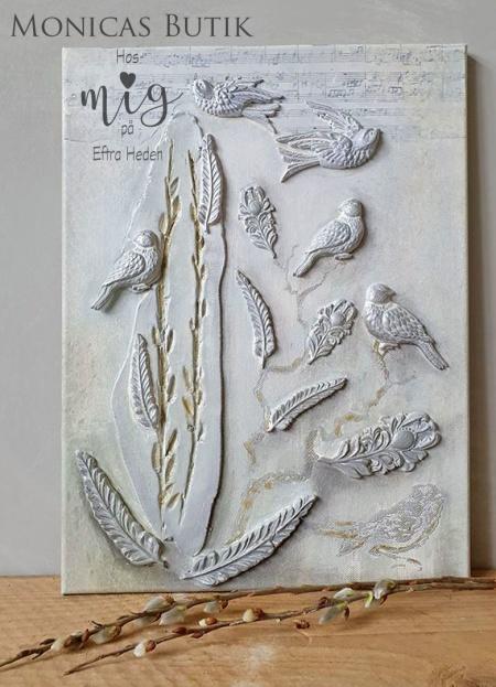 Skapa med IOD Dekorformar, ornament i lufttorkande lera. Ornament på möbler & diy skapande