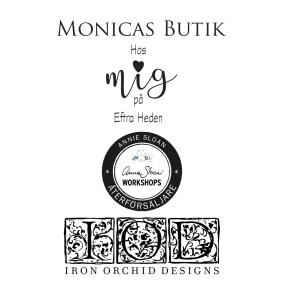 Monicas Butik återförsäljare av Annie Sloan Chalk Paint kalkfärg & IOD Iron Orchid Designs Dekorer & Ornament i Sverige