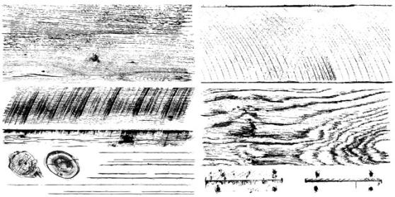IOD Dekorstämpel Barnwood Planks har skapat trämönstret på dörren. Rolla färg på de olika delarna och tryck med stadig hand.