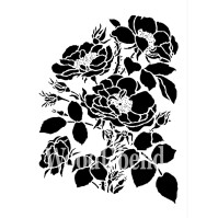 Posh Chalk Schablon Lovely Lush Posey - 25x30 cm