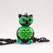 Halsband Uggla grön