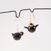 Örhängen Fåglar svarta