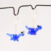 Örhängen Dinosaurier blå