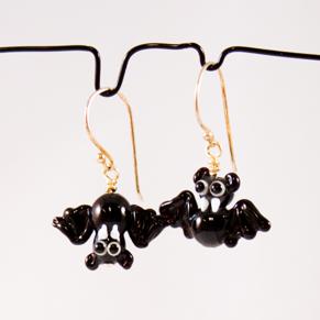 Örhängen Fladdermöss 2 - Ö. Fladdermöss en upp-och-ned