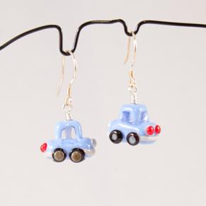 Örhängen Blå bilar - Ö. Bilar periwinkel