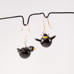Örhängen Fåglar svarta - Ö. Hitte-på-fåglar svarta