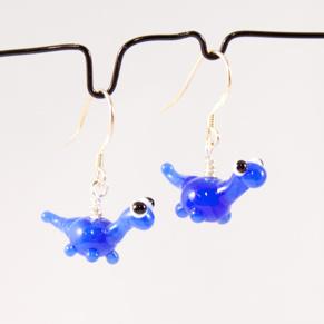 Örhängen Dinosaurier blå - Ö. Dinosaurier french blue