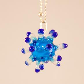Halsband Sputnik blå - Halsband blå sputnik