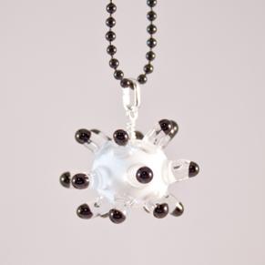 Sputnik vit och svart, Halsband - Sputnik svart vit