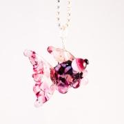 Fisk Rosa & svart Halsband