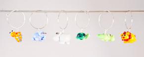 Kalas-glas-markörer djungeldjur - Glasmarkörer djungeldjur