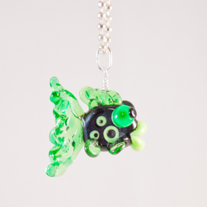 Fisk Grön & svart Halsband - Fisk Grön Svart