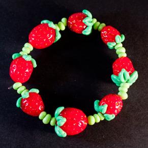 Jordgubbar Armband - Armband Jordgubbar