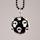 Halsband svart boll med döskallar IMG_4619