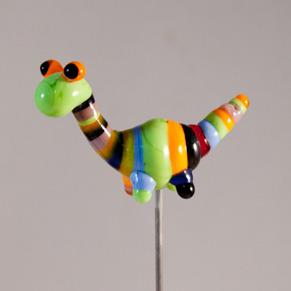 Pinne Dinosaurie randig -