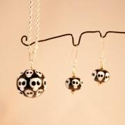 Set Döskallekulor Halsband & örhängen