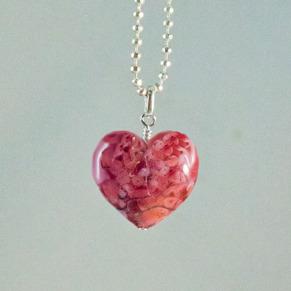 Hjärta rosaspräckligt - Hjärta Rosaspräckligt