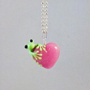 Groda på rosa hjärta - Groda på rosa hjärta