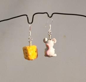 Örhängen Mus och ost - Örh. Mus + ost