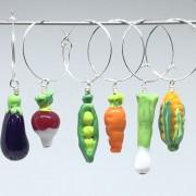 Kalas-glas-markörer Grönsaker