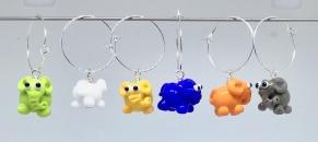 Kalas-glas-markörer Elefanter - Glasmarkörer elefanter