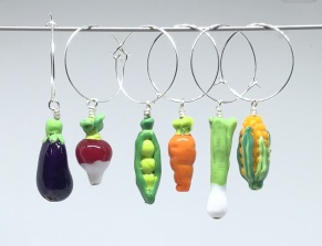 Kalas-glas-markörer Grönsaker - Glasmarkörer Grönsaker