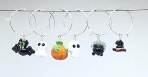 Kalas-glas-markörer Halloween - Glasmarkörer Halloween