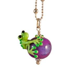 Halsband Groda på lila kula - Groda på lila kula