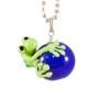 Halsband Groda på kornblå kula - Halsband Groda på kornblå kula