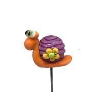 Pinne Snigel orange och lila