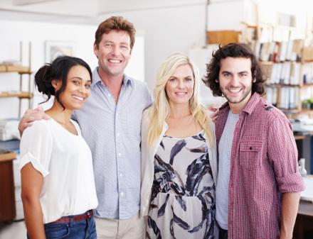 Louise, Jens, Martina och Patrik.