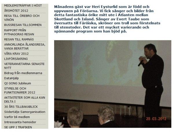 Program för PRO Östertälje 2012