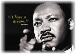 "Martin Luther Kings ""I  have a dream tal"" inramar musikalen"