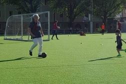 """""""Spela fotboll med barnbarnen"""" 14 juni 2017"""