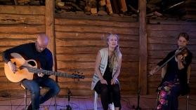 Rikard, Malin och Johanna spelade på logen 2016