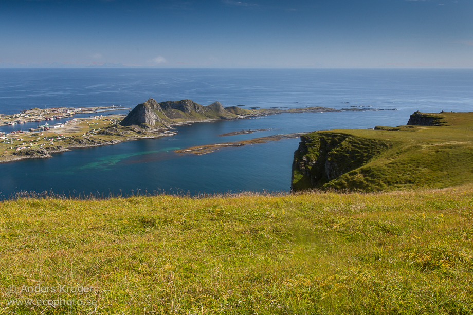 The outermost tip of Lofoten, Norway. At one of the amazing flat tops that can be found there.