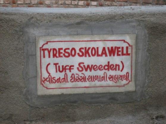 En brunn finansierad av Tyresö skola