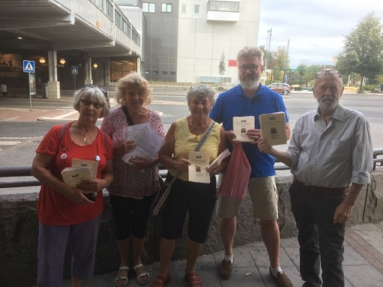 Hiroshimadagen 6 augusti, TUFF-aktivister  i Tyresö C