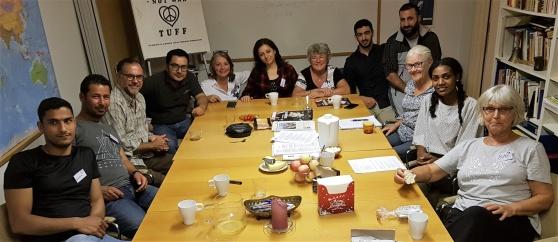 TUFF:s Integrationsprojekt har i höst fyllt 1 år och välkomnat ytterligare deltagare. Här syns några av dem.