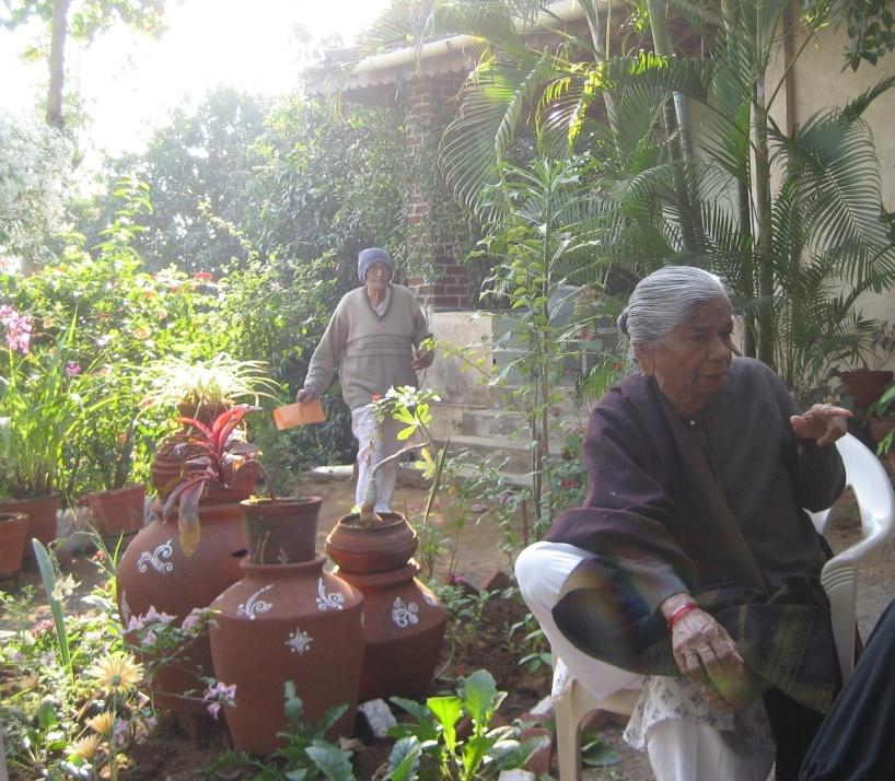 Tidig morgon hos Bhikhu och Kokila i Bilpudi